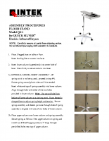 QS-1 FloorStand Assembly Instructions