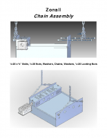 Zonall Chain and Wall Bracket Assembly
